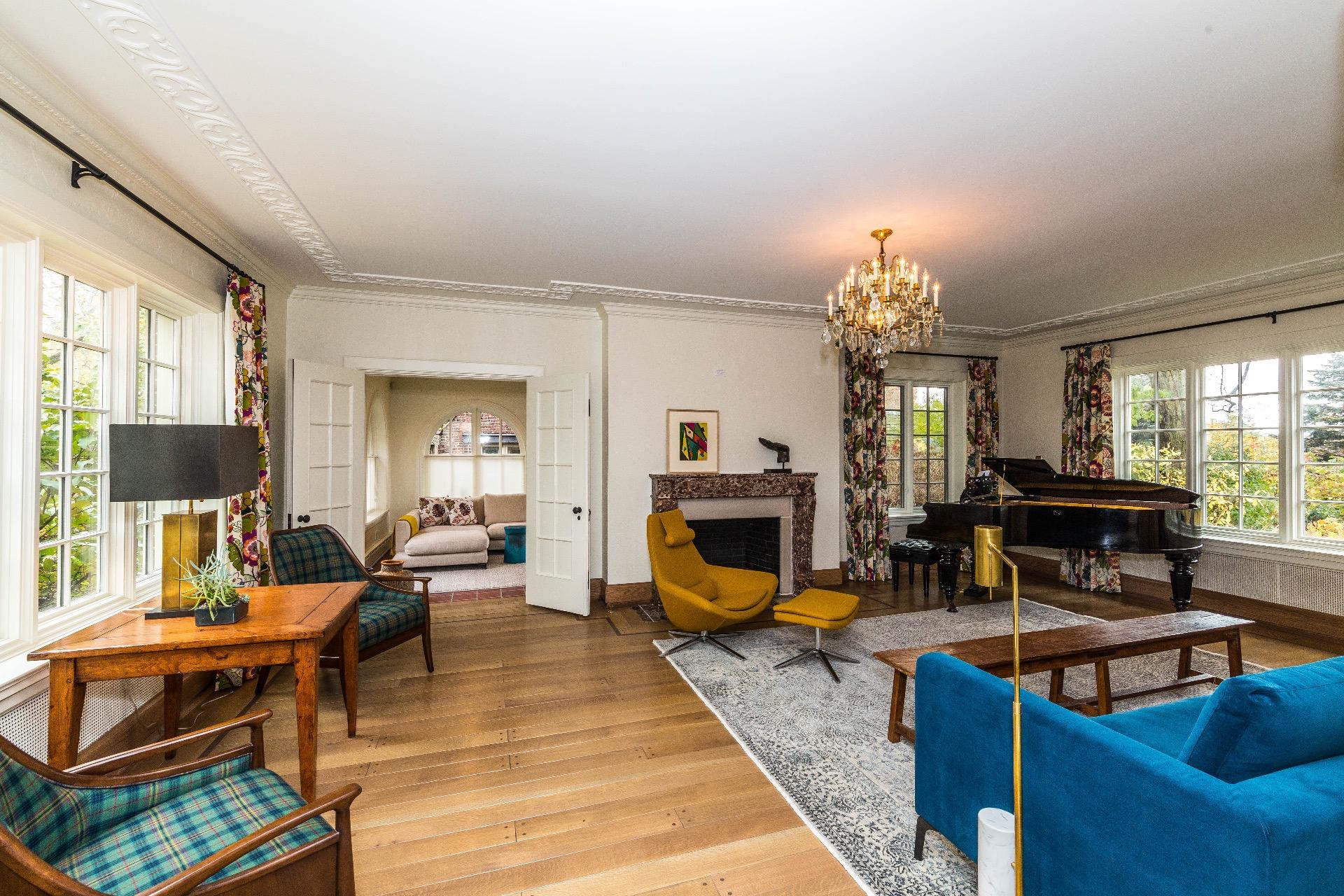 Modern Tudor Living Room