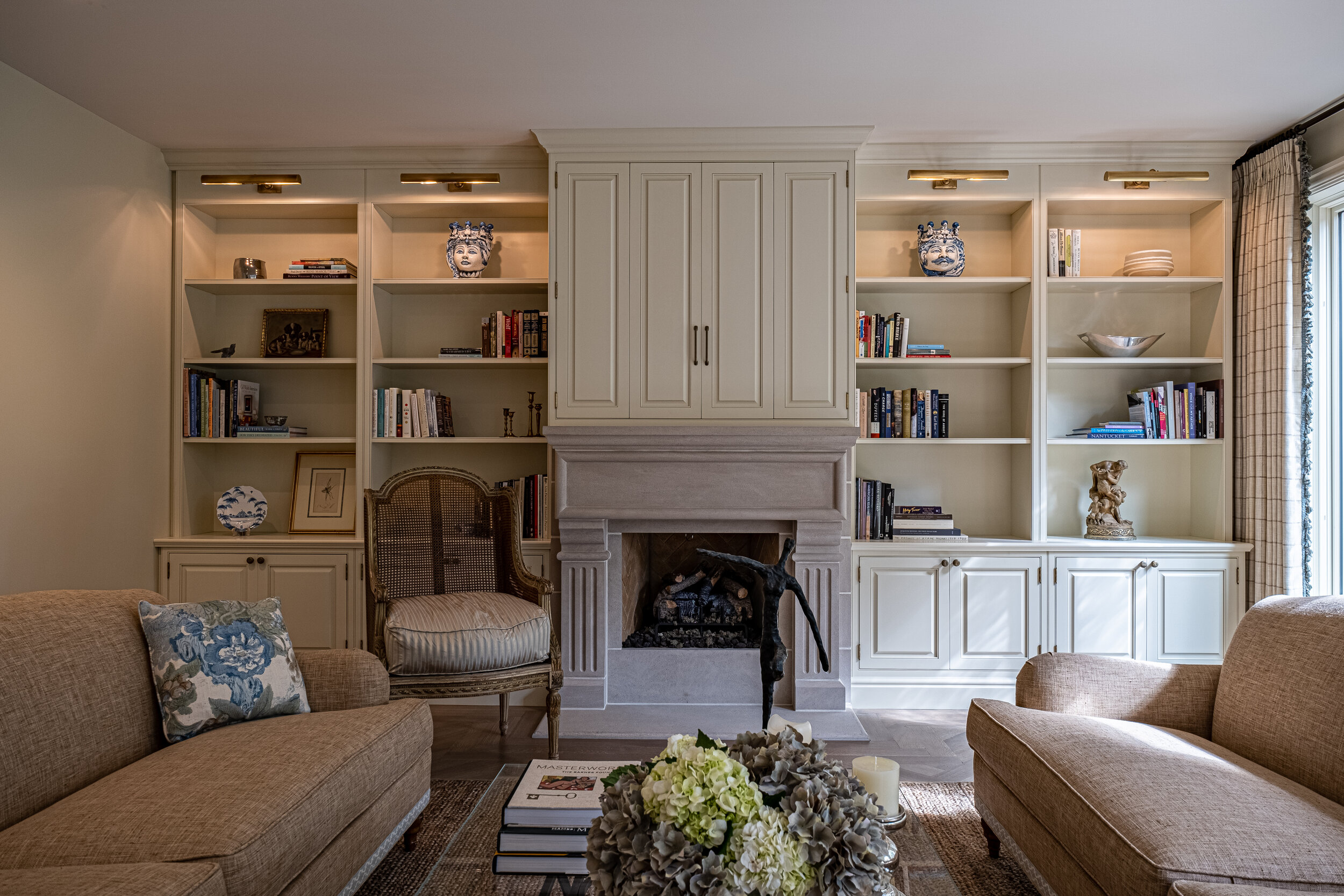 M Ferrari Company, Living Room Bookcases & Built-In