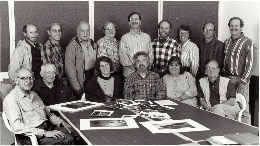 In our Broadway Gallery, 1995 - 2000  Sitting L-R: Herman Krieger, Charles Davenport, Mary Lou Cummings, Guy Weese,Denise Mattson, Gene Tonry  Standing L-R: Gary Tepfer, Justin Williams, Dave Ball, Walt O'Brien, John Coggins, Peter Soule, Mary James, Charlie McCormick