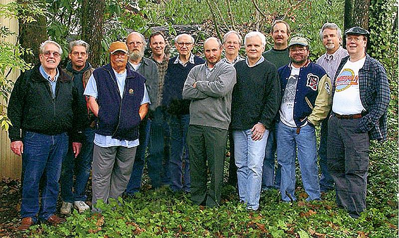 December 2003  L-R: Chuck Draper, Justin Williams, Bill Tuss, Cliff Minks, Jon Joblonski, Herman Krieger, Gary Tepfer Walt O'Brien, Gene Tonry, Pat Plaia, Ed Pabor, Guy Weese, Bob Roelke