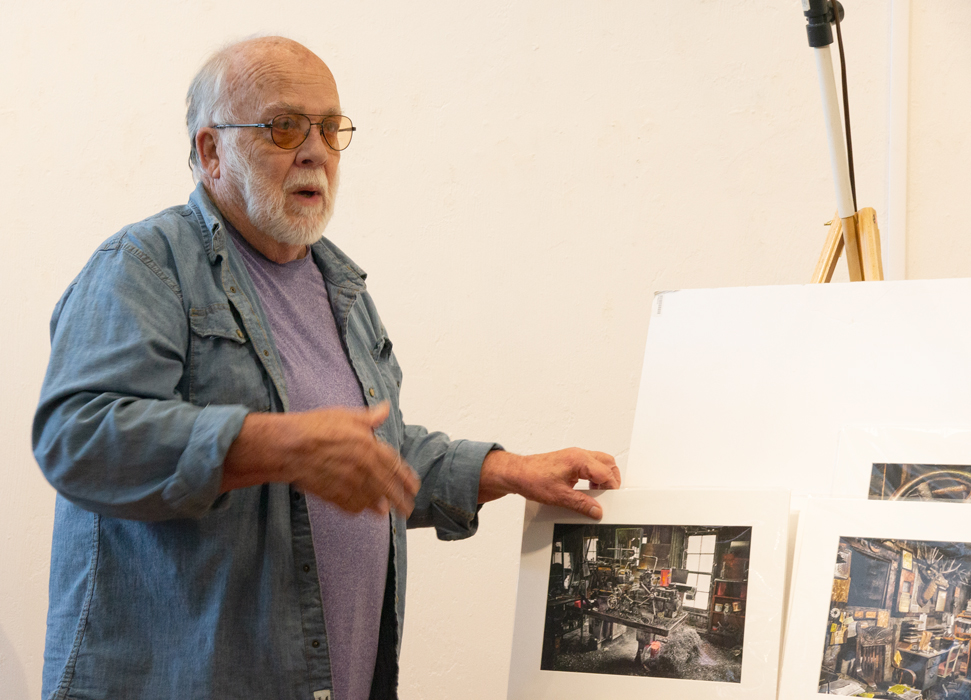 Ron Shufflebarger shares recent work.  Meeting on August 18, 2019