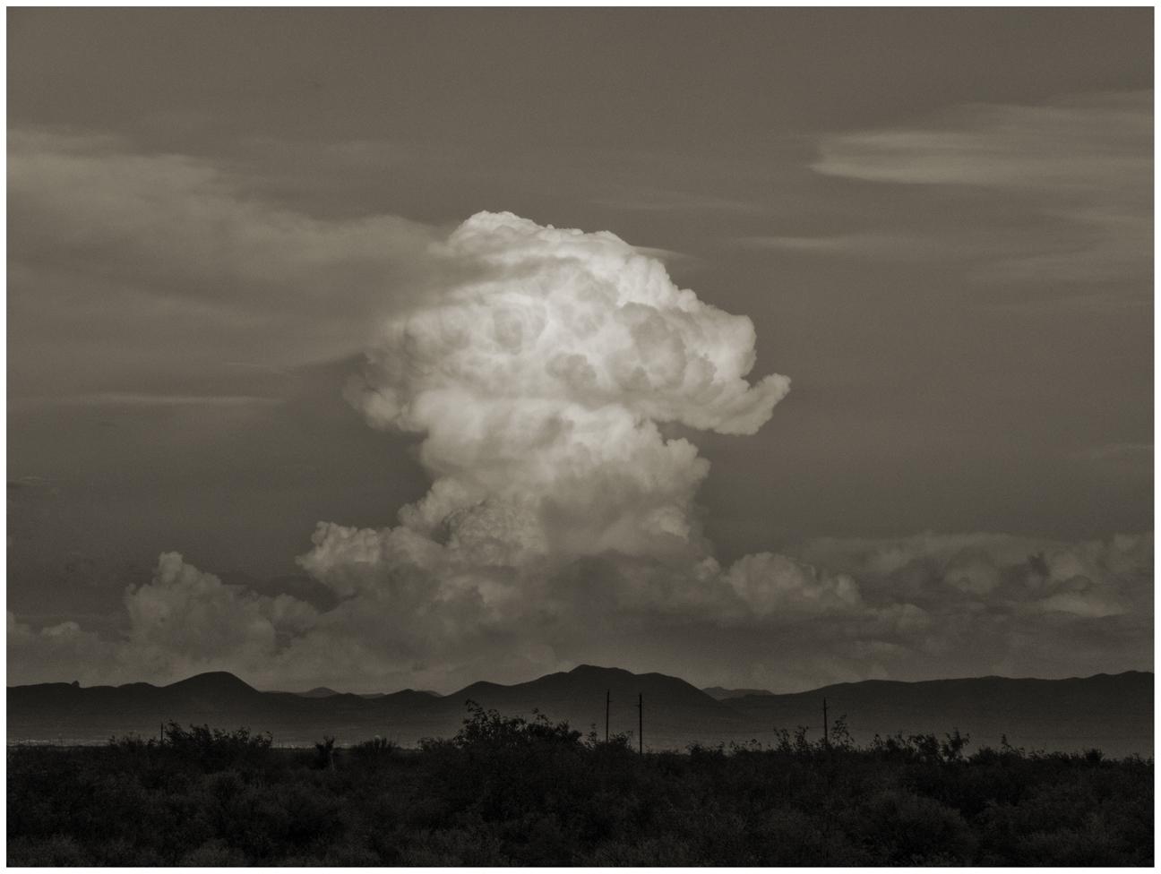 Monsoon cloud, Sulphur Springs Valley AZ
