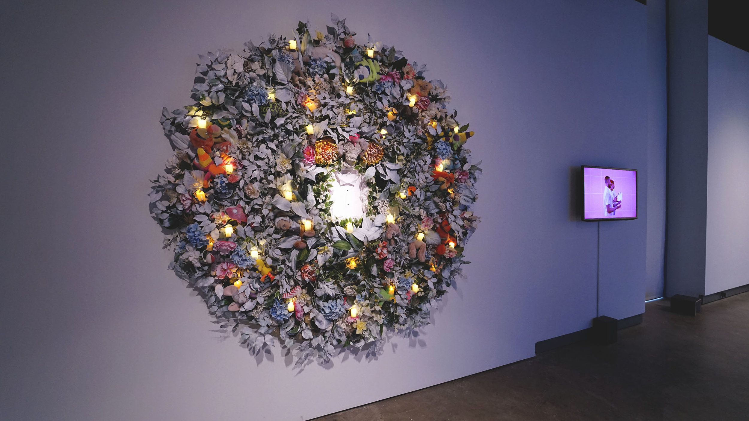 thesis show_Install view_wreath.jpg