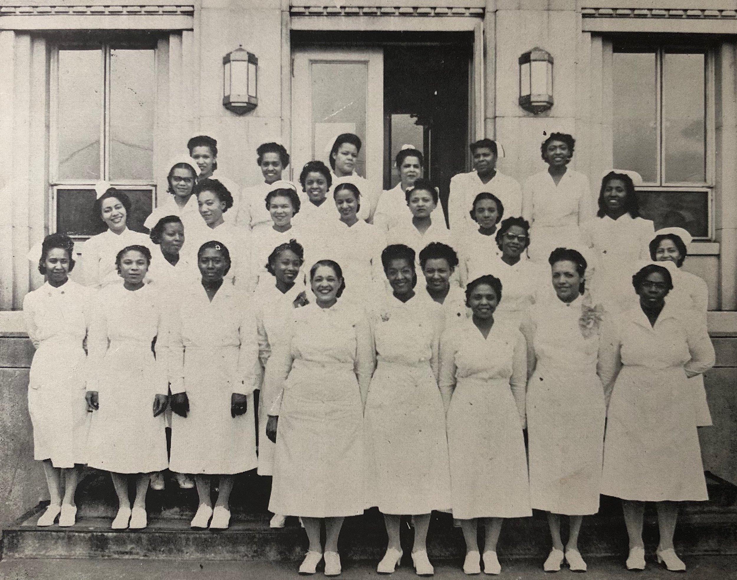 1949 Graduate nursing staff of Kate Bitting Reynolds Memorial Hospital. Photo and thumbnail courtesy of Linda Dark