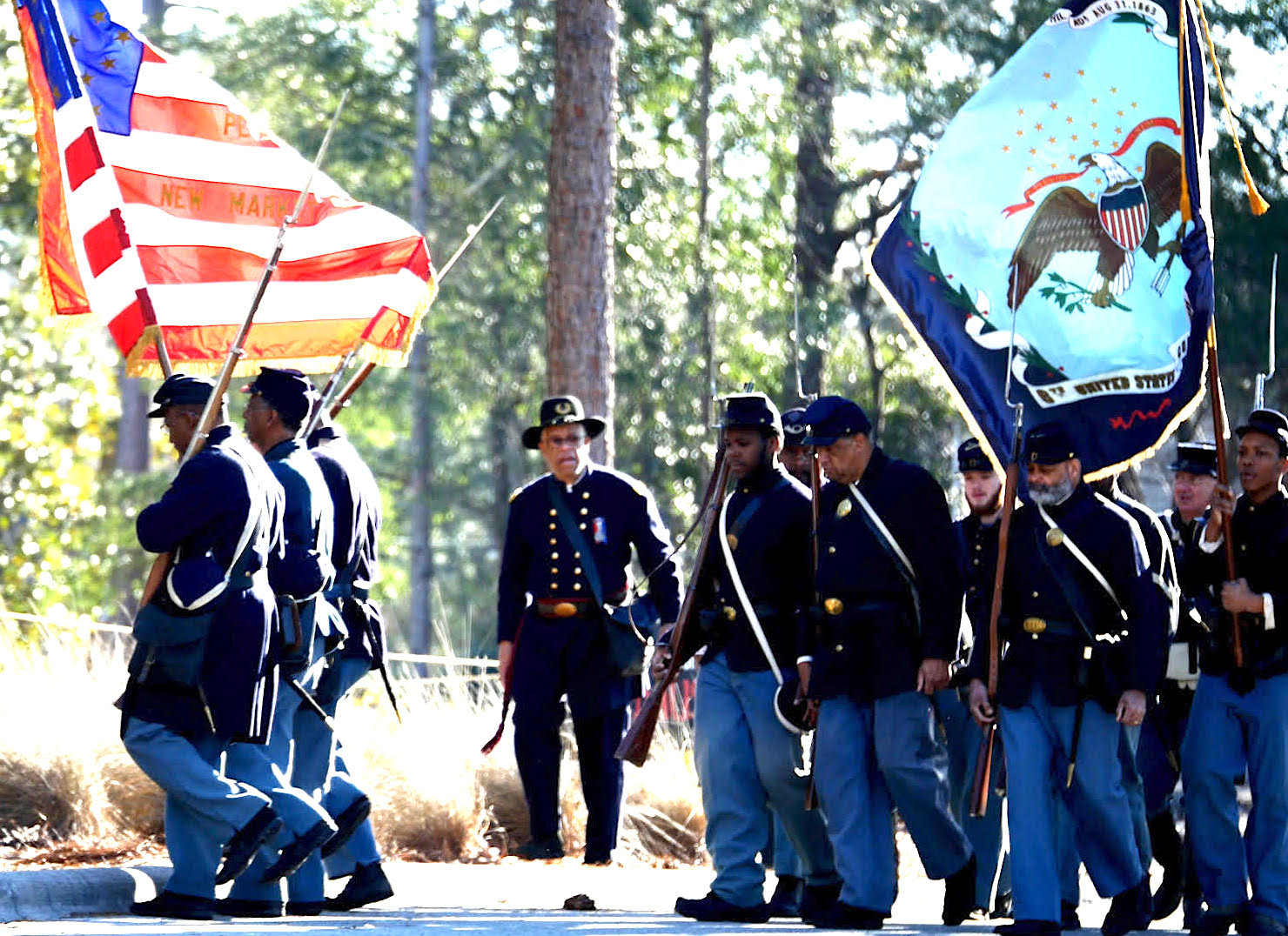 United States Colored Troops re-enactors at the Battle of Forks Road historic site. Thumbnail and photo courtesy of Adam Alphin