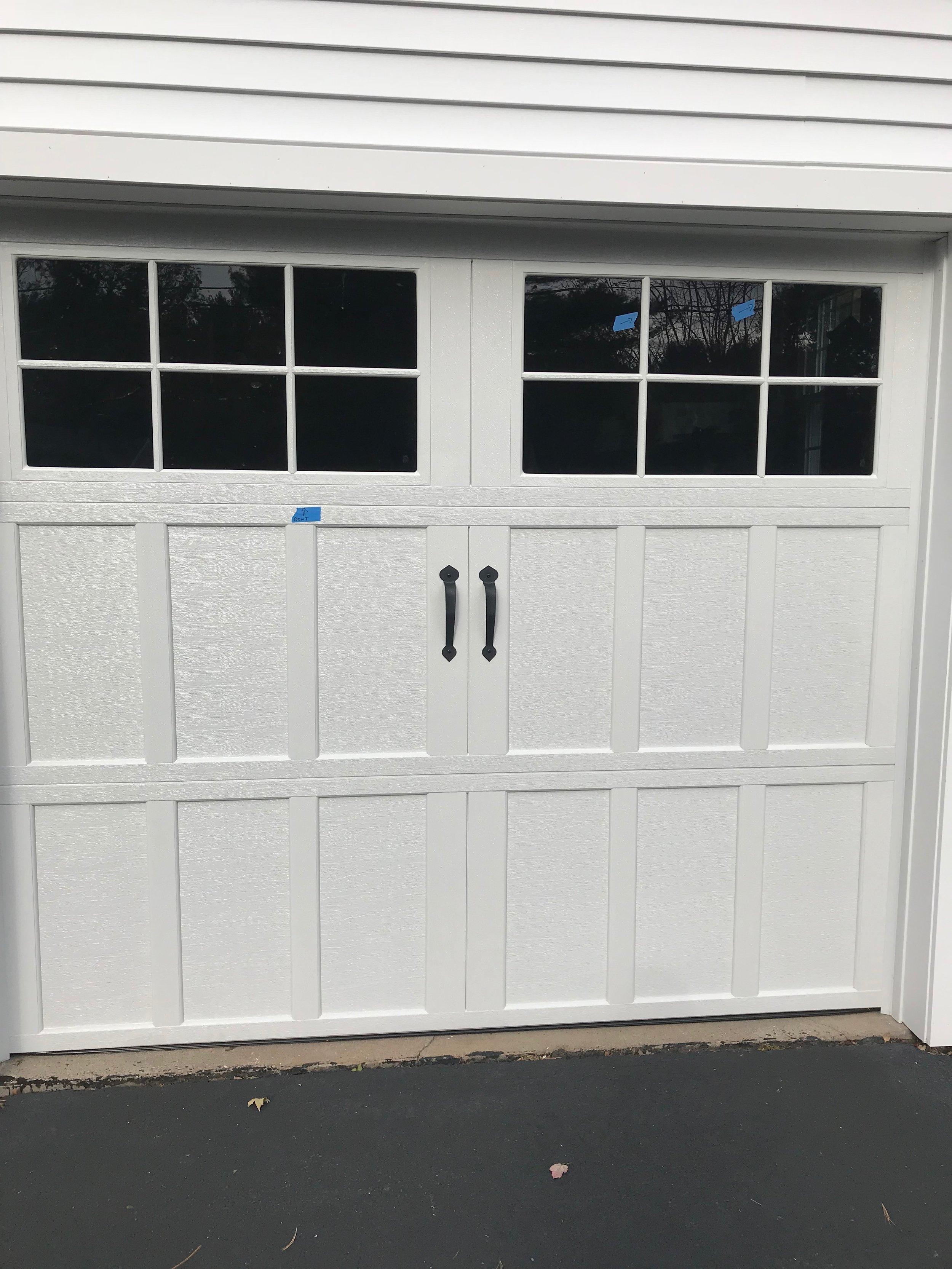 White Garage Door with Windows - Suffield