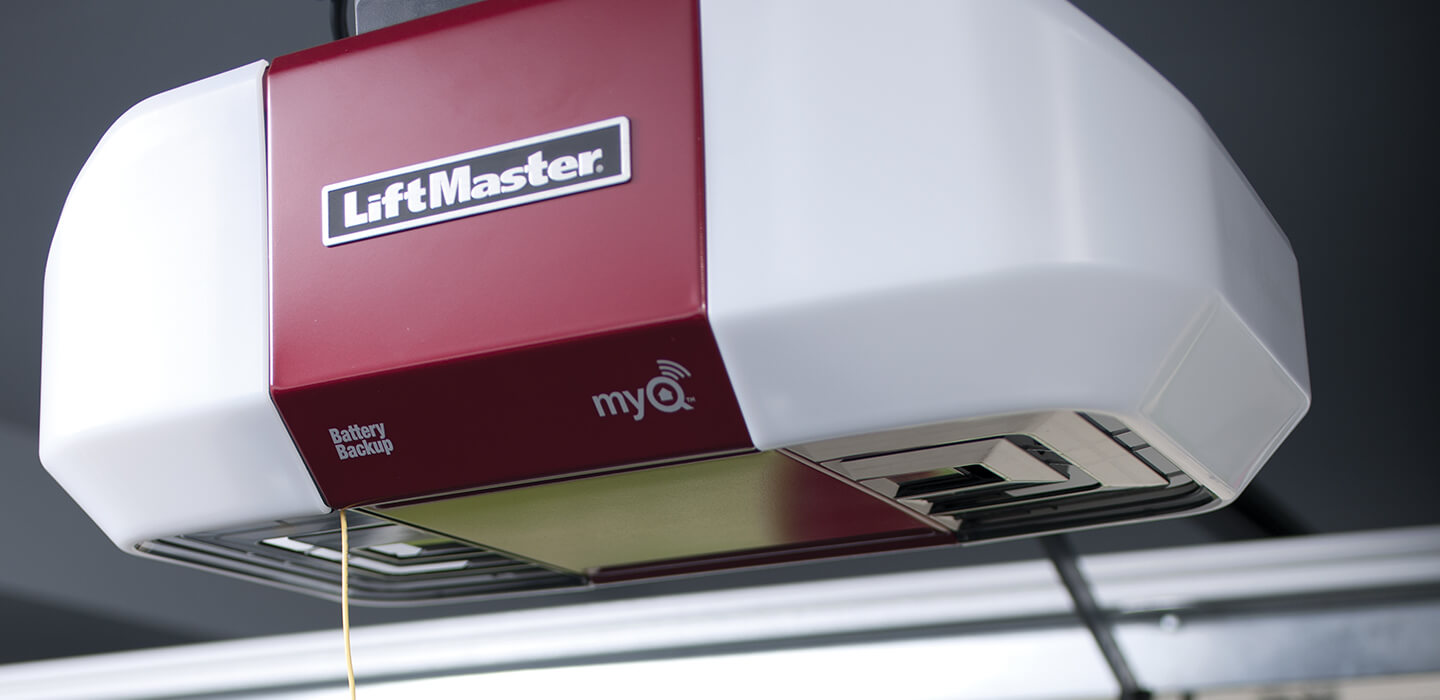 LiftMaster Electronic Garage Door Opener with myQ technology, app enabled, and battery backup