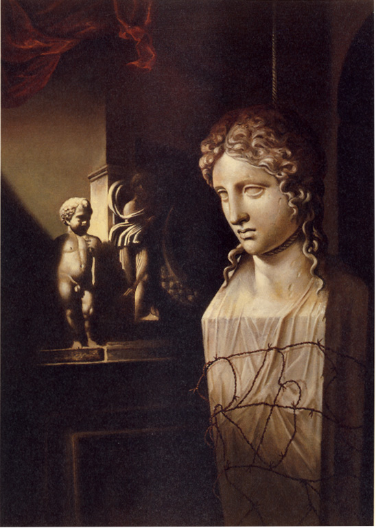 """"""" (Suicide of the Caryatid 3)  1996 Oil on canvas  20 x 14in.jpg"""