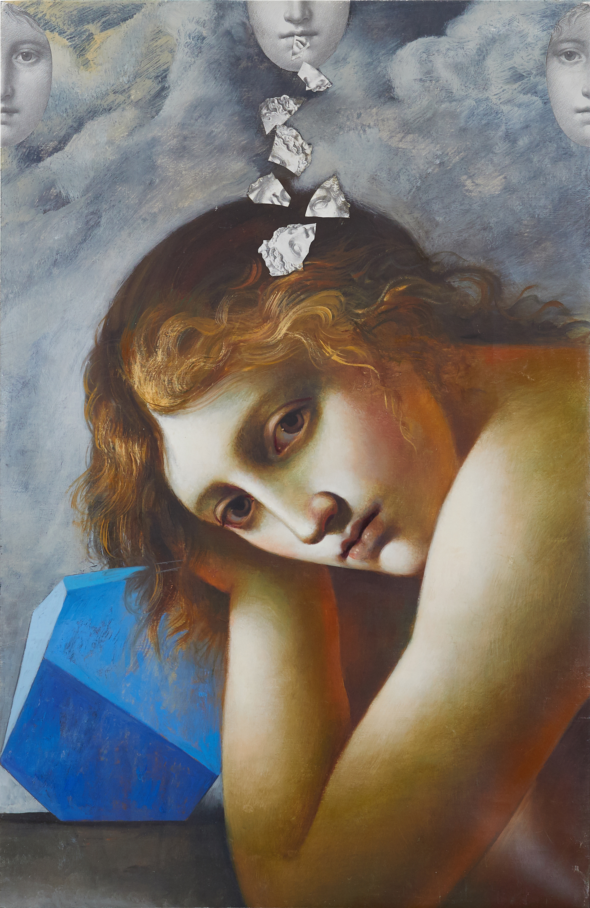 Melancolia (Melancholy), 2012. Oil and collage on canvas, 60 x 39 cm. New York, Collection of the Artist and Carol Lane, inv. no. 580.2012.D.jpg