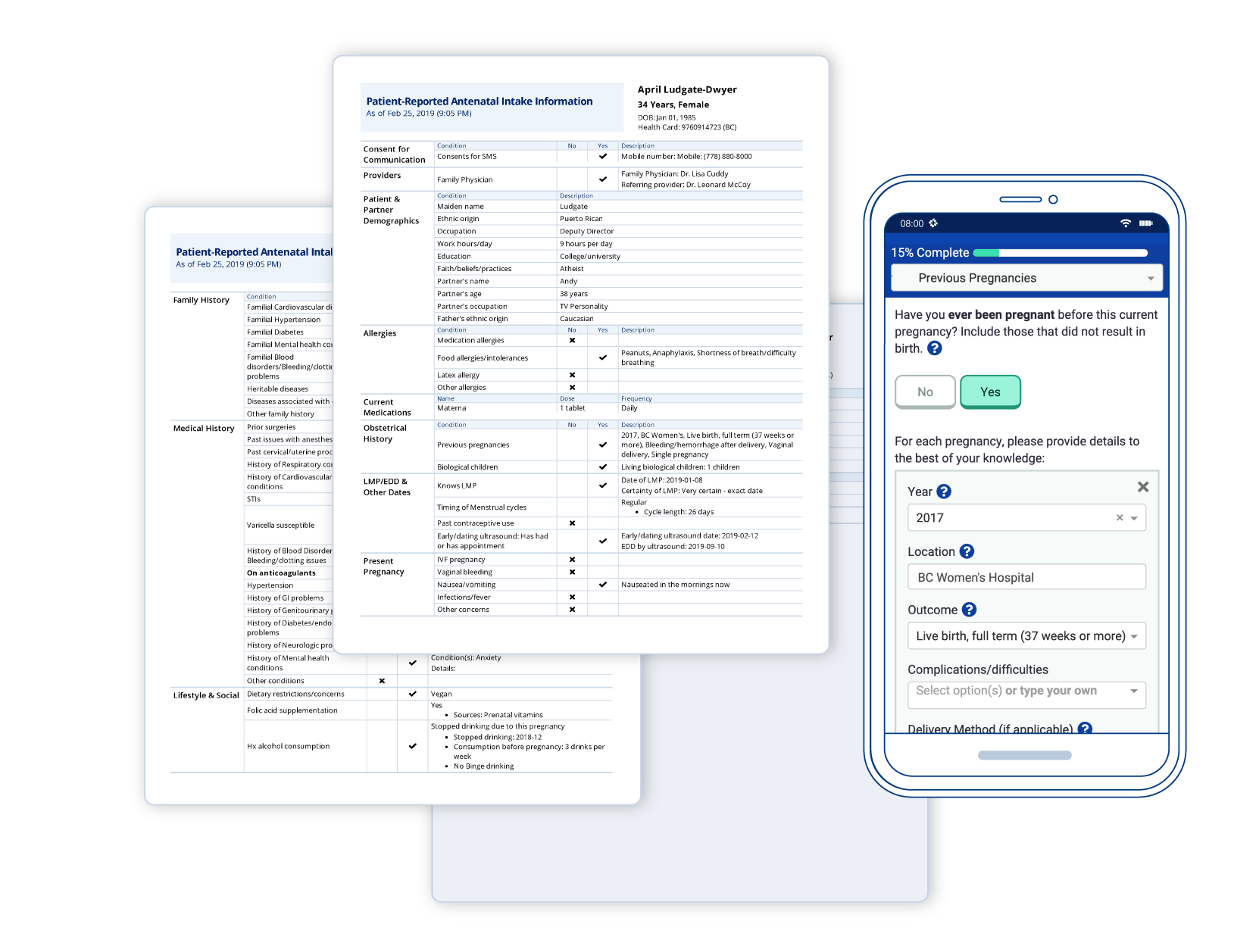 Easy access - Patients see simple, straightforward questionnaires accessible on mobile. You see a clear and concise summary and can manage care efficiently from your worklist.
