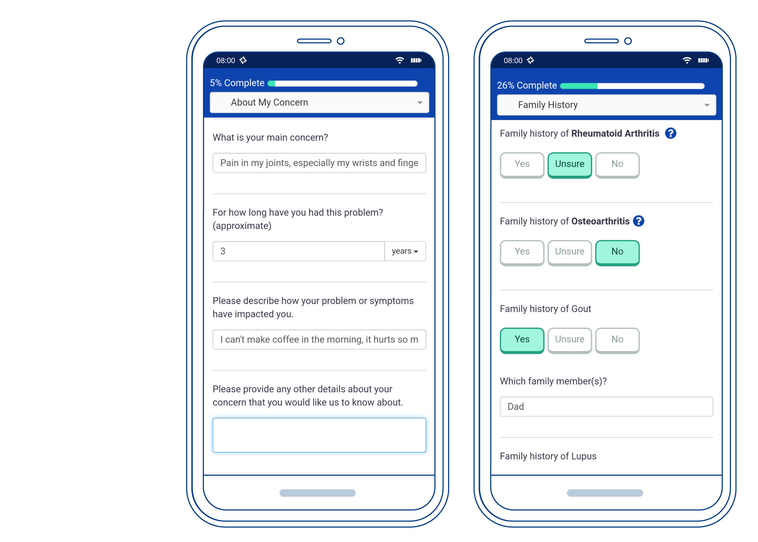 Patient-friendly forms - Our intake forms have built-in help and dynamic questions to get the full patient story ahead of visits.