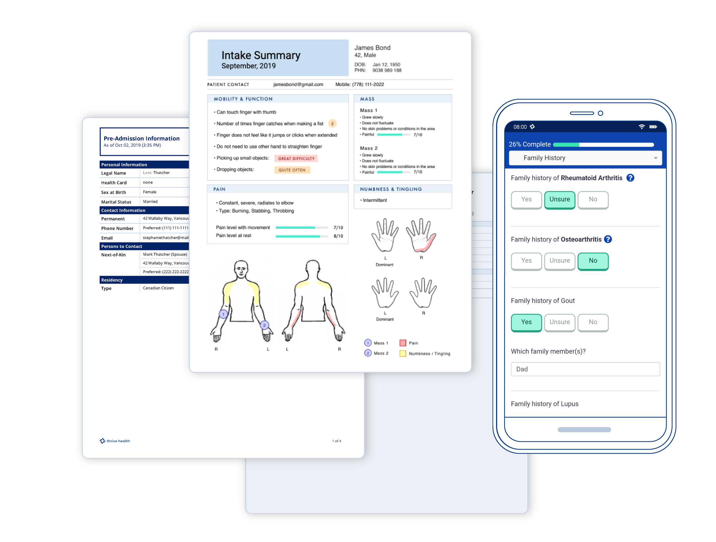 Easy access - Patients see simple, straightforward questionnaires accessible on mobile.You see a clear and concise summary and can manage care efficiently from your worklist.