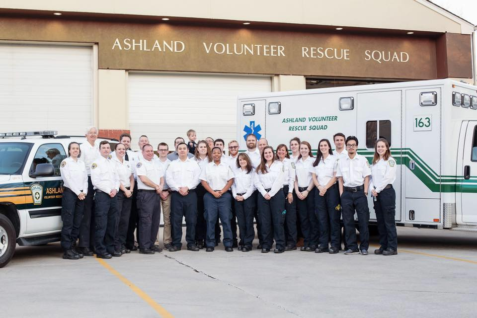 Ashland Volunteer Rescue Squad - For more than 60 years, Ashland Volunteer Rescue Squad has been serving the residents of the Town of Ashland and Hanover County by providing Emergency Medical Services and other community events.