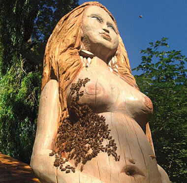 Melissa , sculpture and beehive