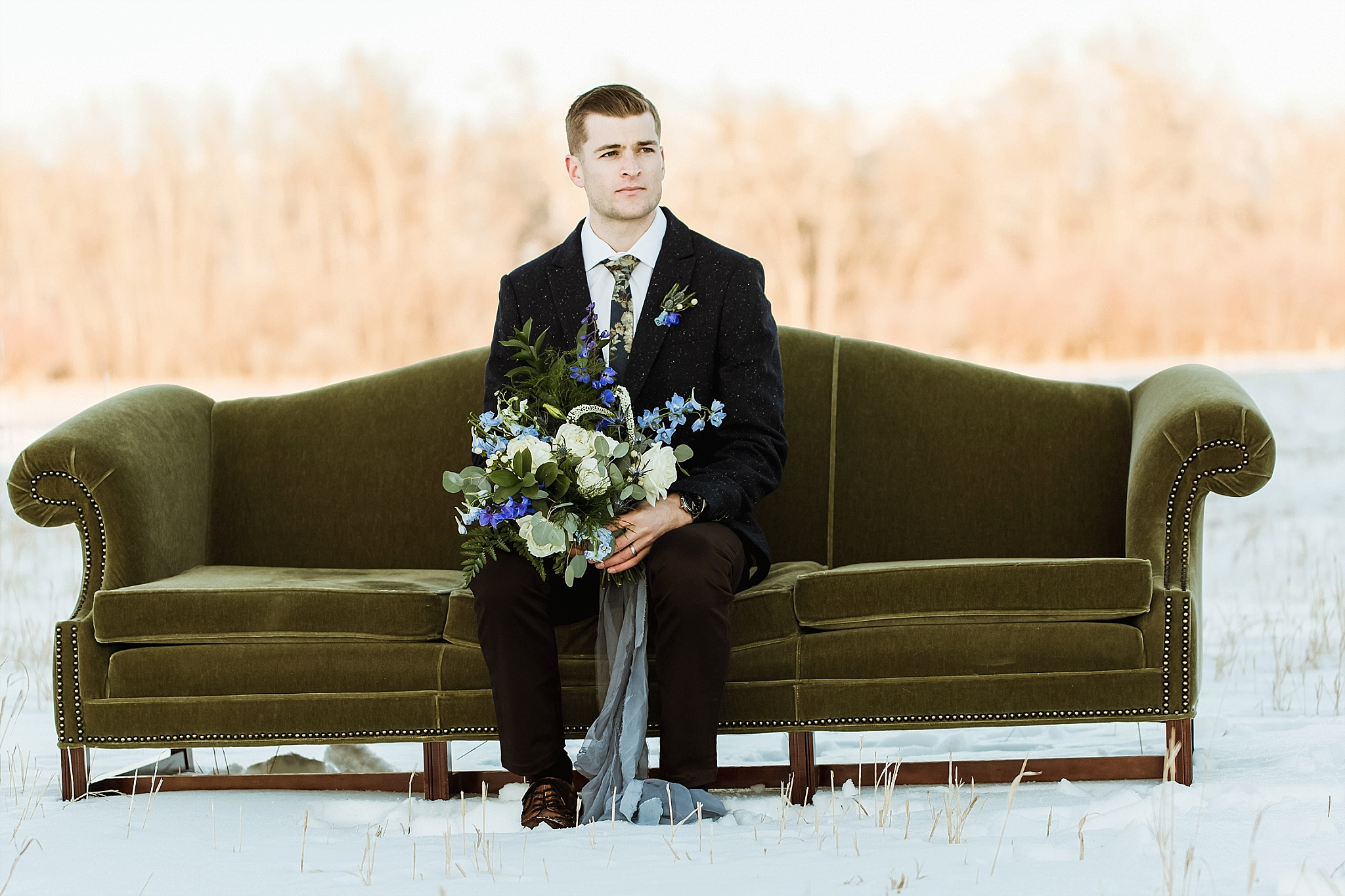 Elements of Lght Winter Wedding- Firelight Farm
