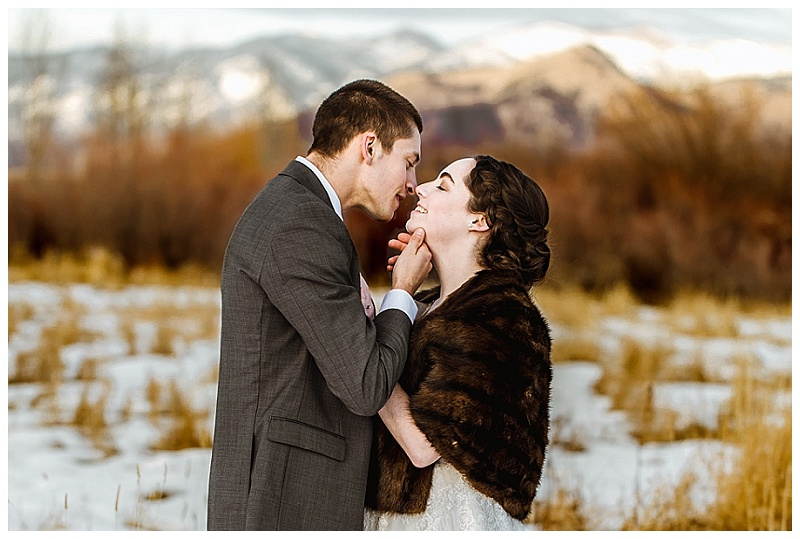 Elements of Lght Wedding- Bozeman Winter