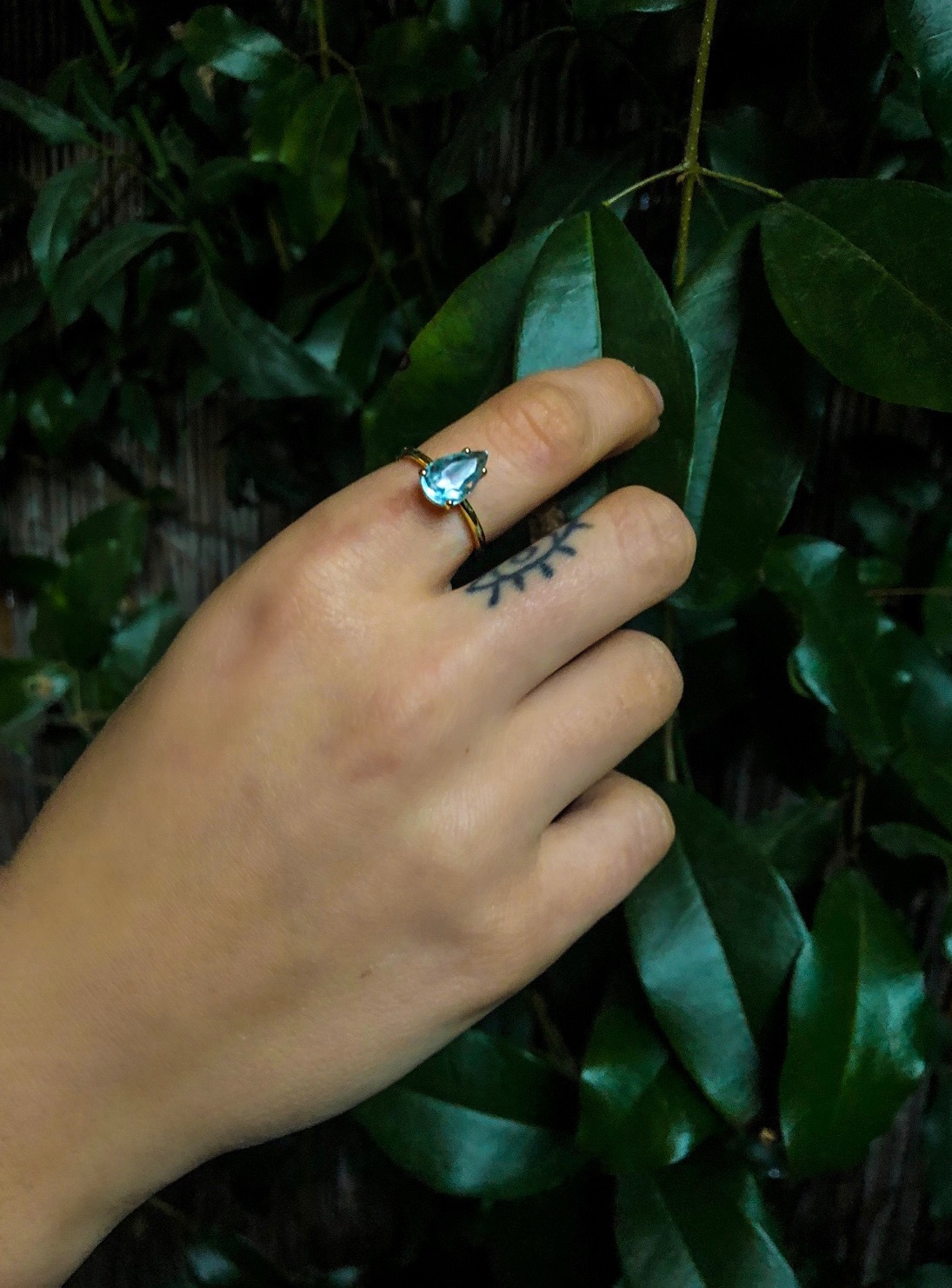 BABY BLUE 1.4 ct aquamarine in 18K gold prong setting Source: Madagascar Cut: Thailand Made: Los Angeles $950