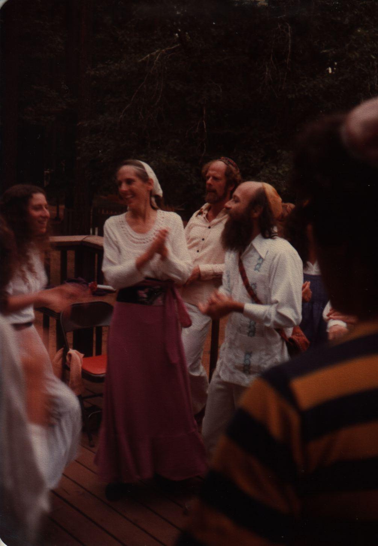 82 Joys  Pre-Shabbat dancing Jody, Reuven and Yehudit Goldfarb, Jabob P in background copy.jpg