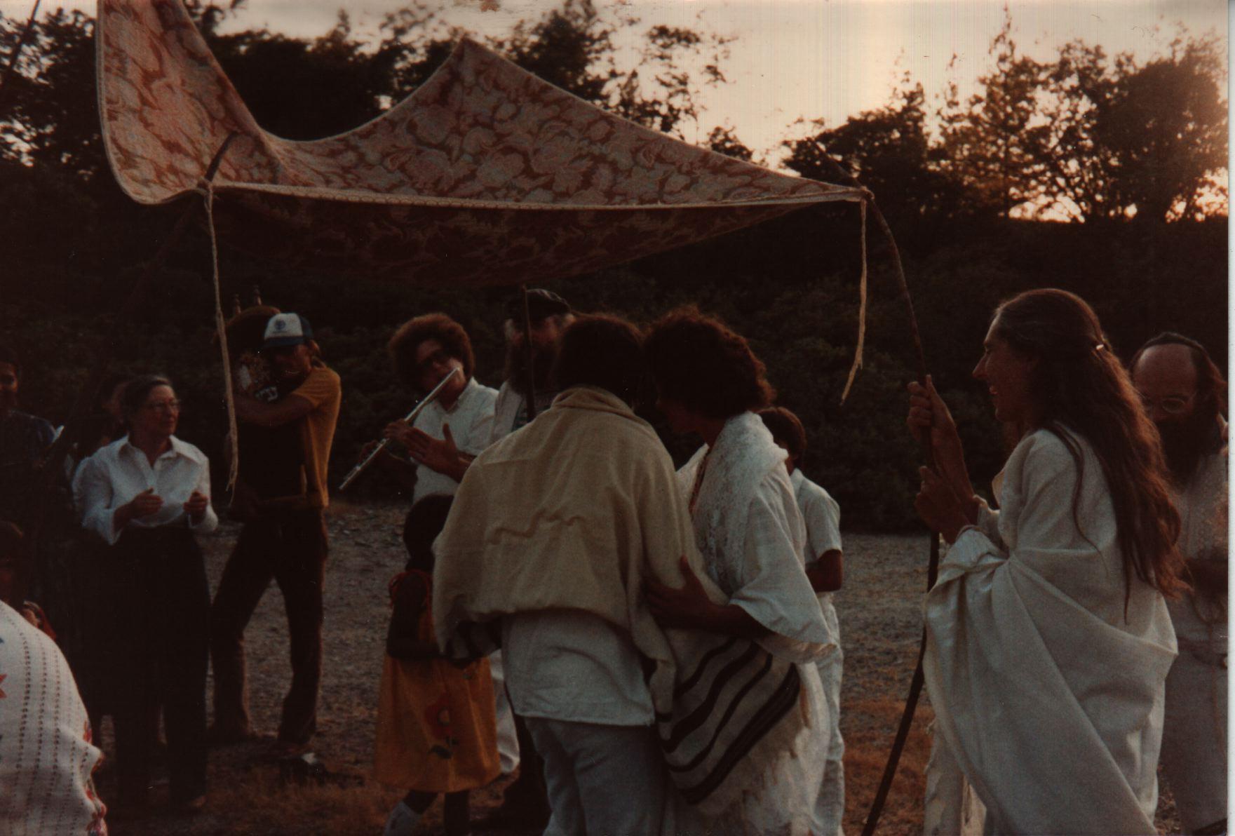83 Joys  Huppah for Carol Goodman and Hanan Sills, incl Reuven and Yehudit Goldfarb, Juliet Lowenthal, Michael Diamond with Aquarian Minyan Torah, Aryeh Trupin on flute copy.jpg