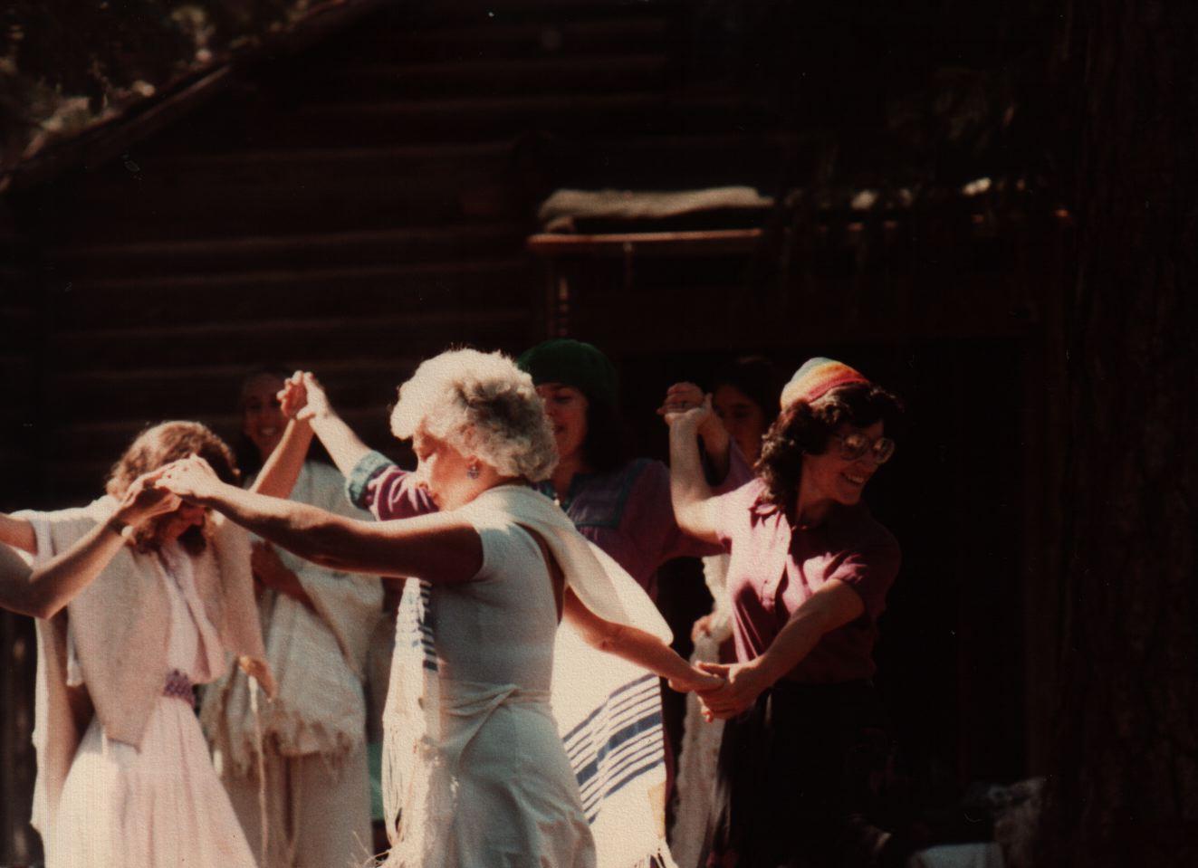 84 Joys  Women dancing, incl Debra De Vries (?), Talma Dinstein, Sharon Alexander, Miriam Jacobs (Yehudit Goldfarb in back) copy.jpg