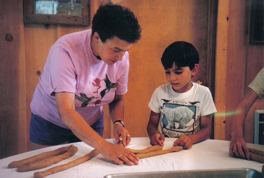 87 Joys Nikki Sachs and son (Noah?) making Challah.png