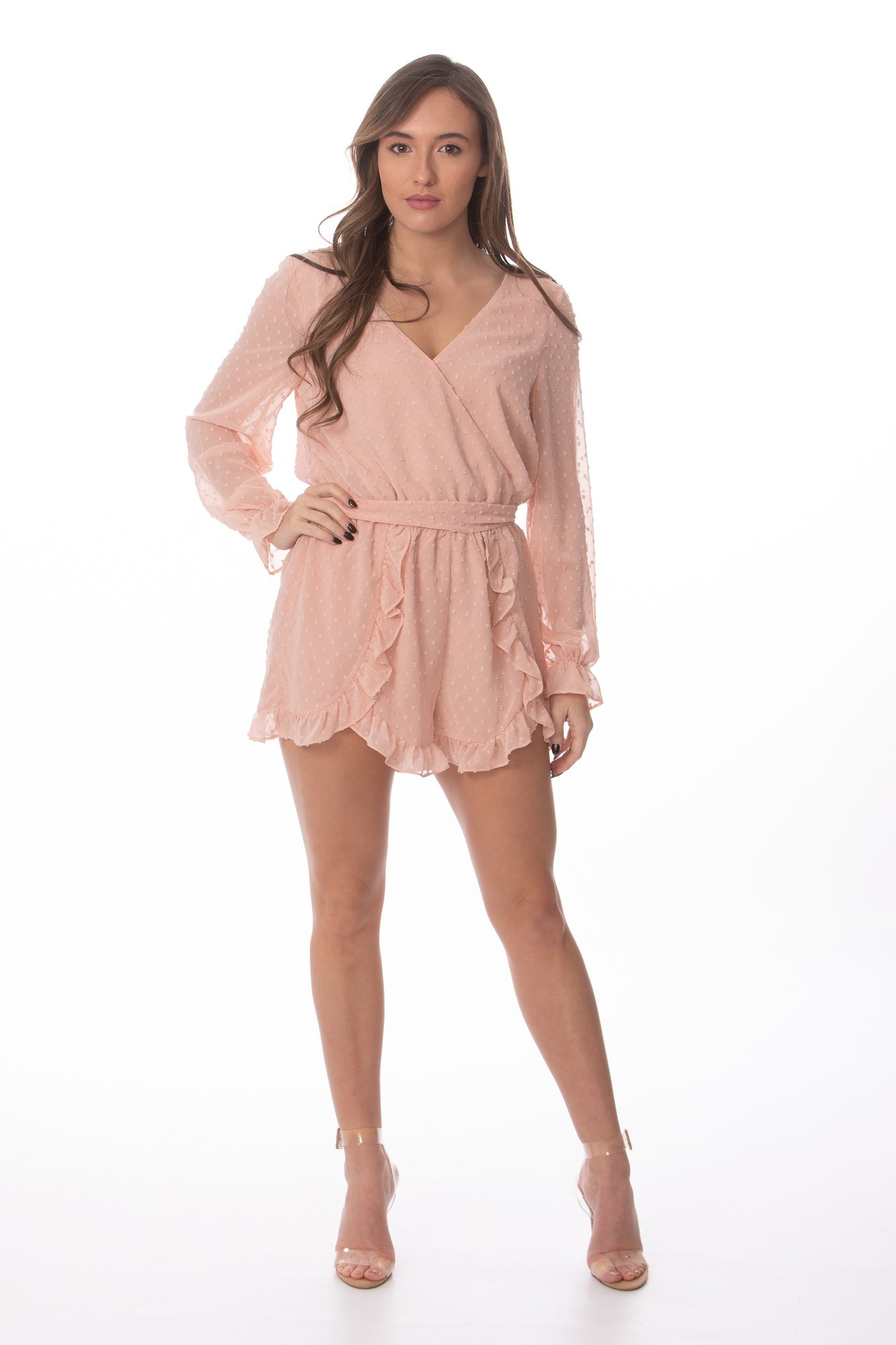 """DUSTY ROSE"" ROMPER"