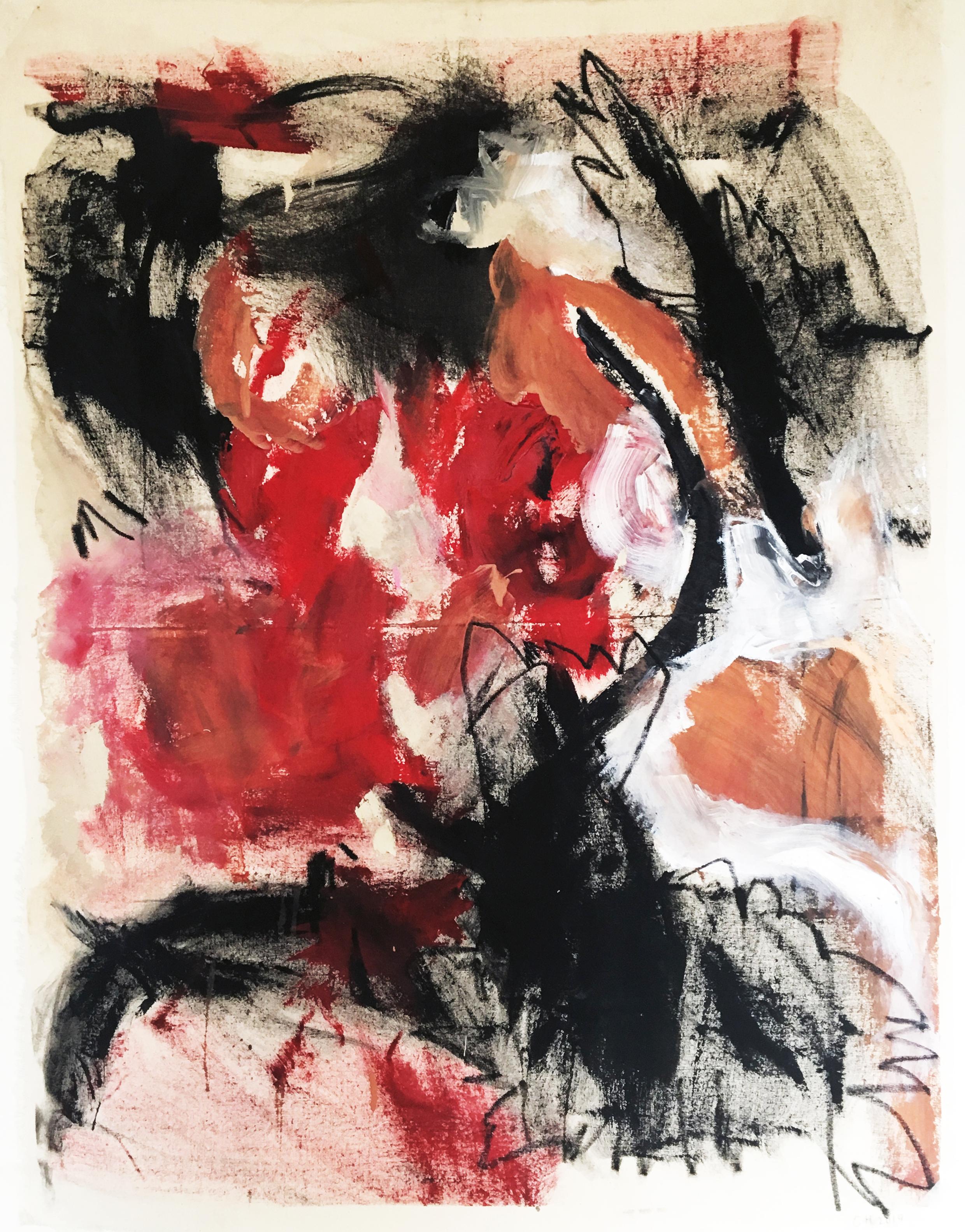 100 x 80 cm oil pastel, acrylic, calico
