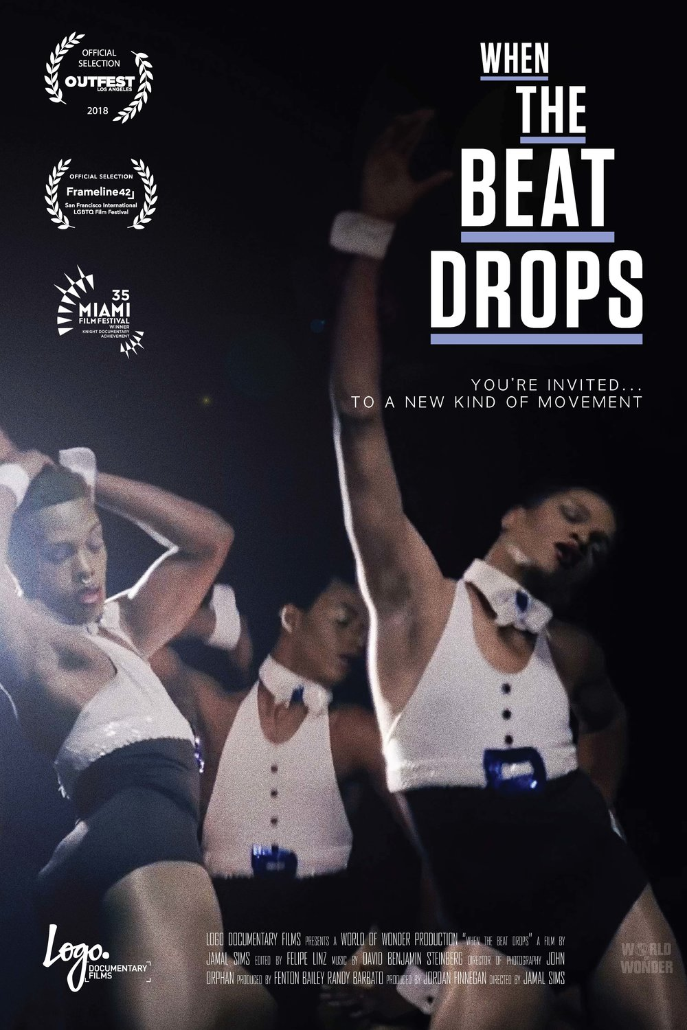 WHEN THE BEAT DROPS  / Featuring footage and stories from the men of Atlanta's bucking scene, director Jamal Sims gives a glimpse into the world of J-Setting as it grows into a national movement. Poster Design by Olufemi Leverett.