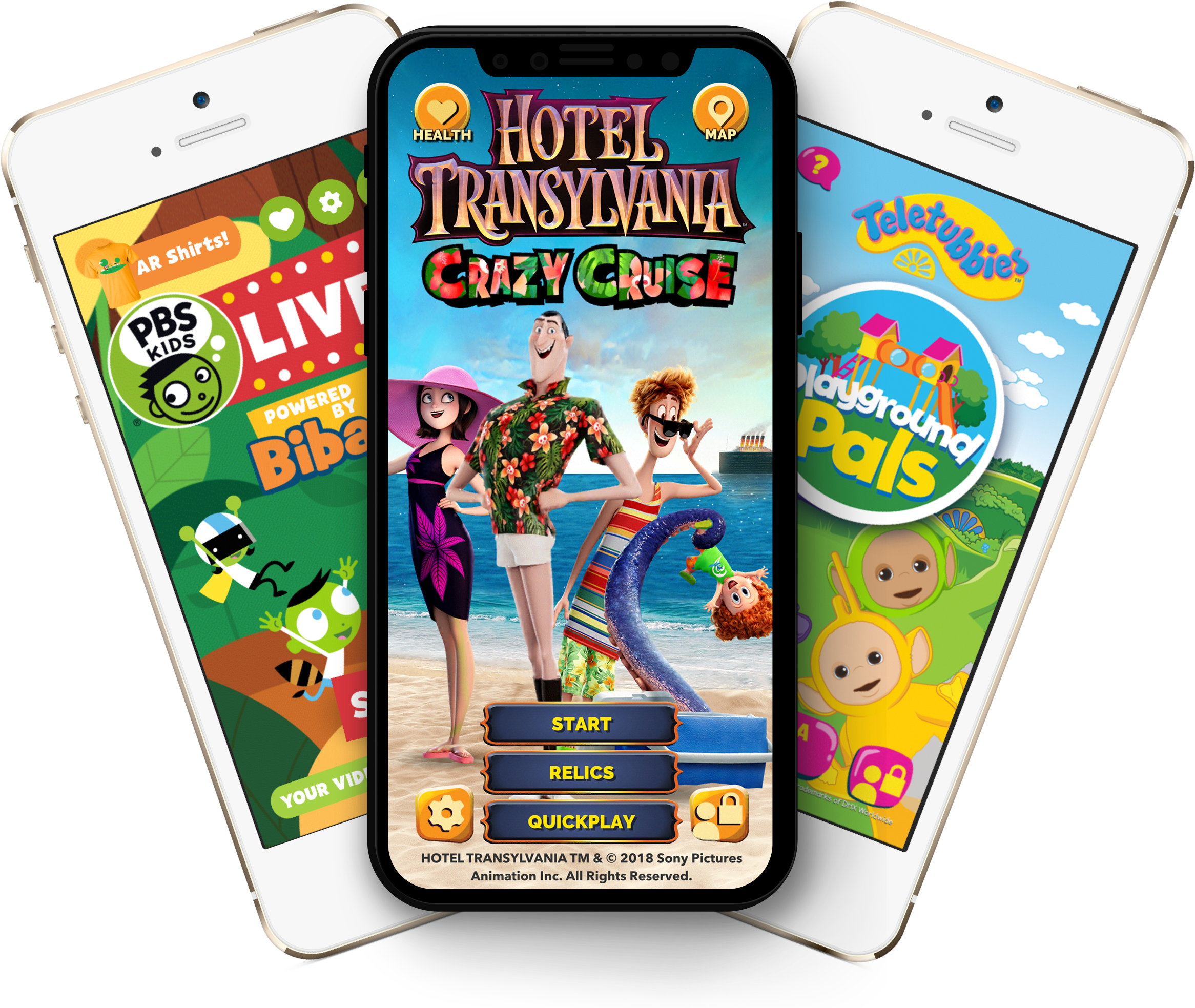 "Family-friendly, Kid-approved. - Biba games are based on the principle of ""embodied play"": kids use their imaginations to play make believe, while their bodies get a fun workout. That's why family-friendly, iconic brands like Hotel Transylvania, Teletubbies and others are happy to be part of our offering!"