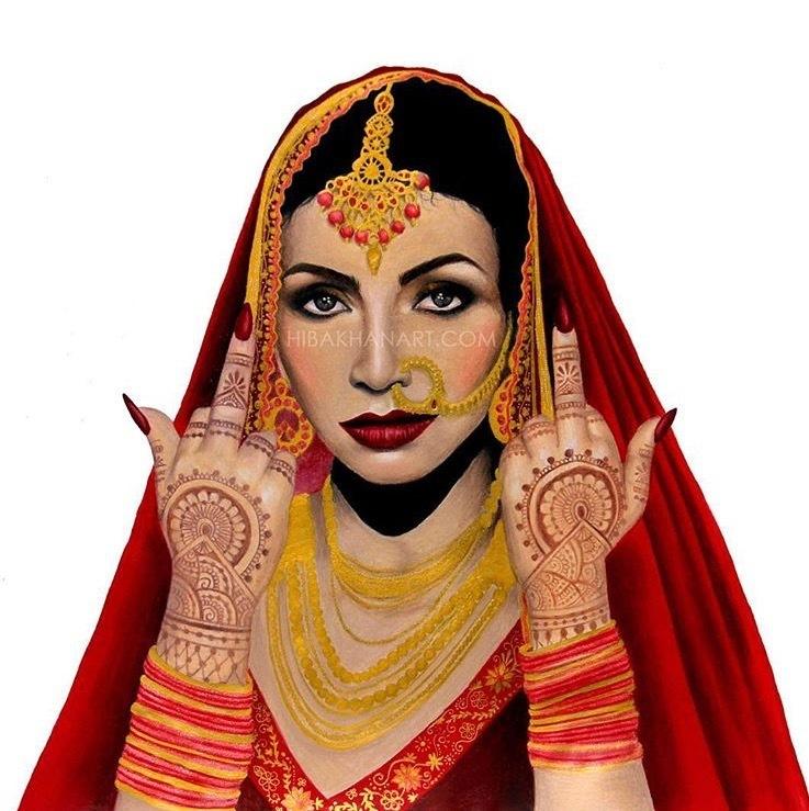 Not Your Bride - Hiba Khan Art