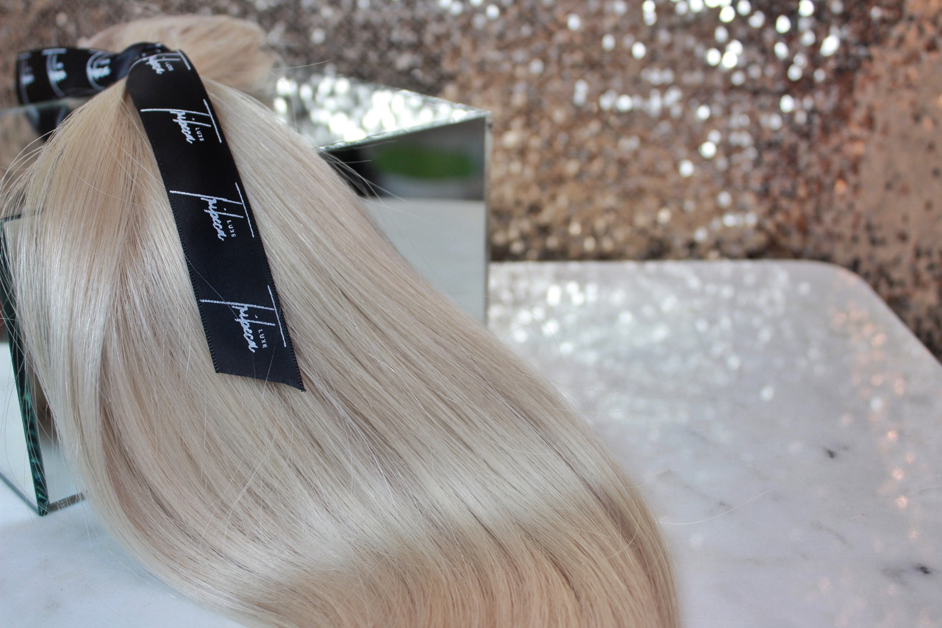 platinum hair extensions