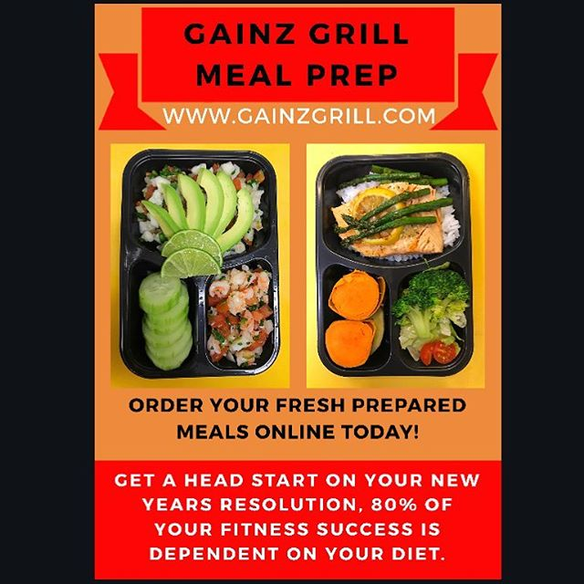 Start 2019 on the right foot by taking a step towards achieving your nutritional goals!💪🏽 We're here to help you lead a healthier life by providing an easy, affordable, and appetizing meal prep service! Order today at WWW.GainzGrill.com