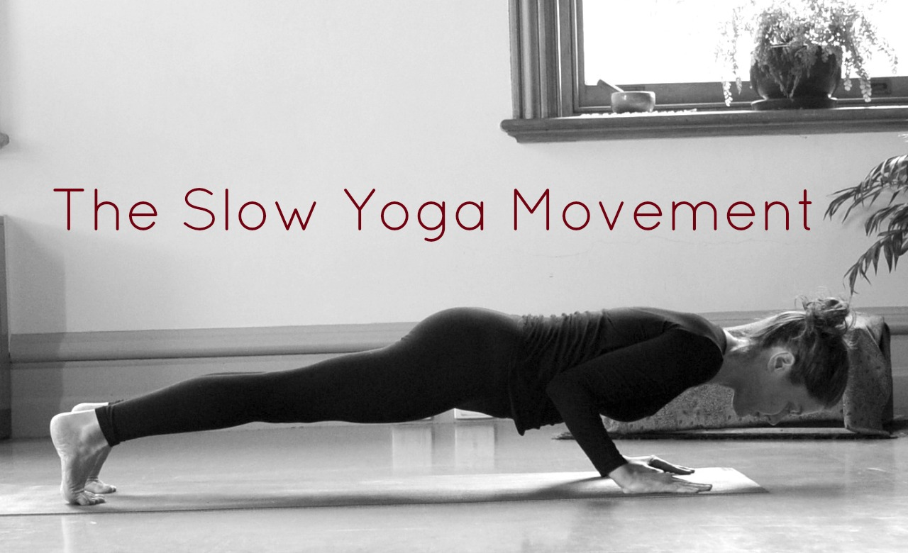 The strengthening effect of  chaturanga dandasana  (crocodile pose) is wonderfully amplified when the posture is moved into very slowly.
