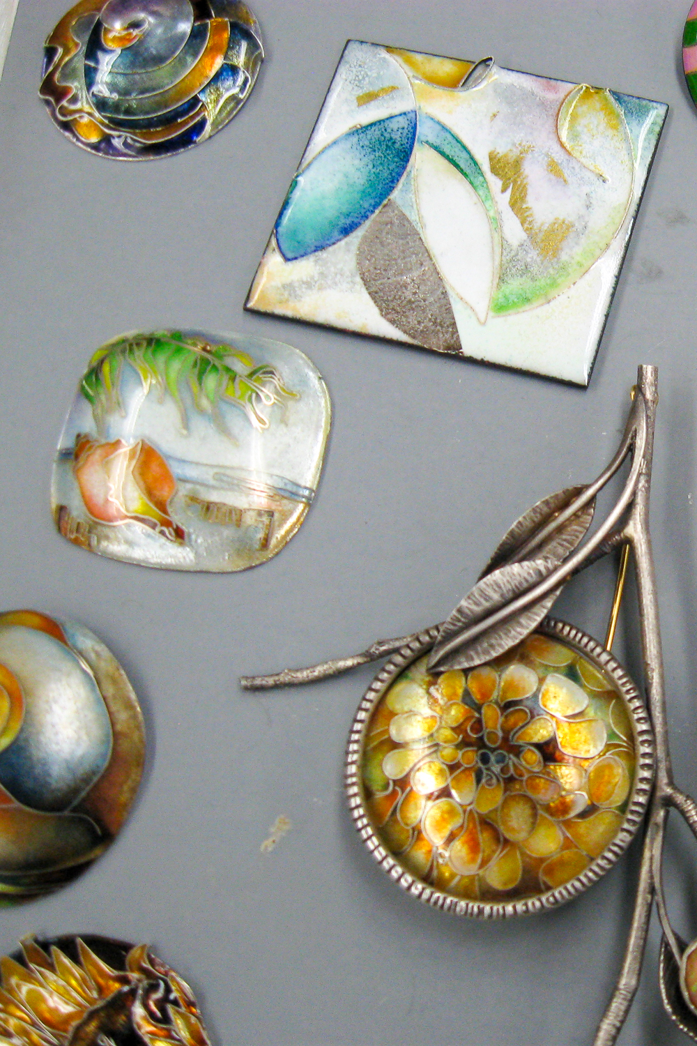 Samples from Linda Darty Enamel Workshop