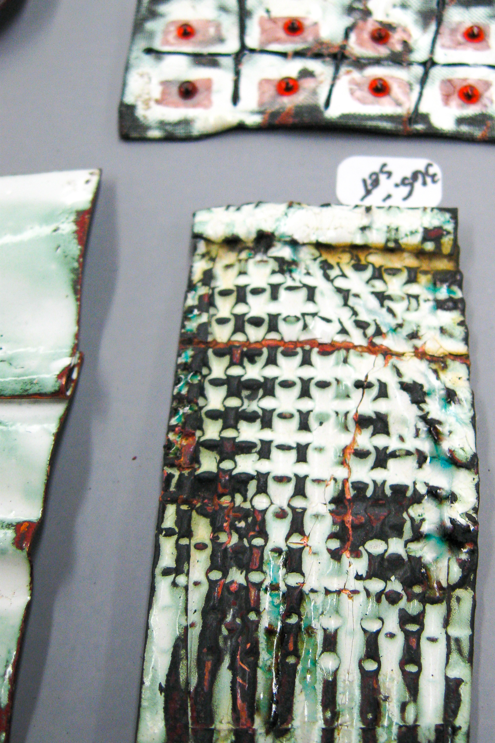 Liquid enamel samples from Linda Darty Workshop