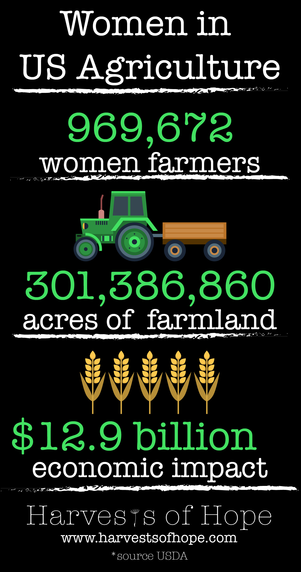 Infographic on women US agriculture