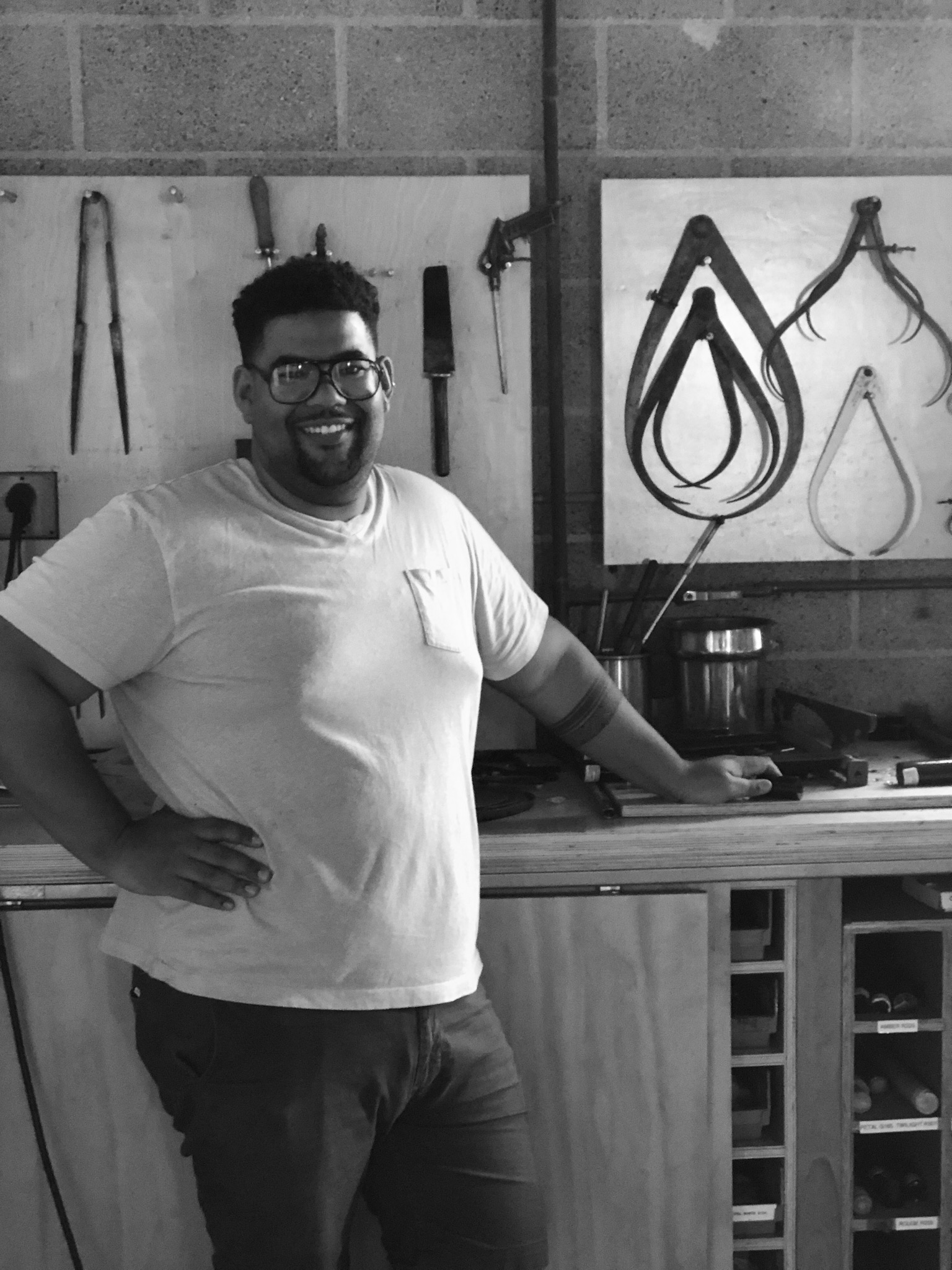 Corey Pemberton - Brand new to Los Angeles, Corey brings over ten years of experience in fine arts and glass from the East Coast to our sunny spot here in LA. A recent Core Fellow at Penland School of Crafts and Artist in Residence at the Pittsburgh Glass Center, Corey looks forward to sharing his talents with the local community.