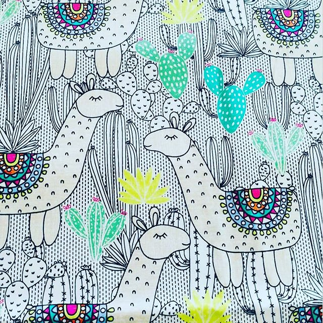 Can't wait to see this Llama fabric turned into one of our Kozy Koala Sleepmats!! #kozykoala1 #kozykoalablankets #kozykoalasleepmats #handmade #australianbusiness #llamas
