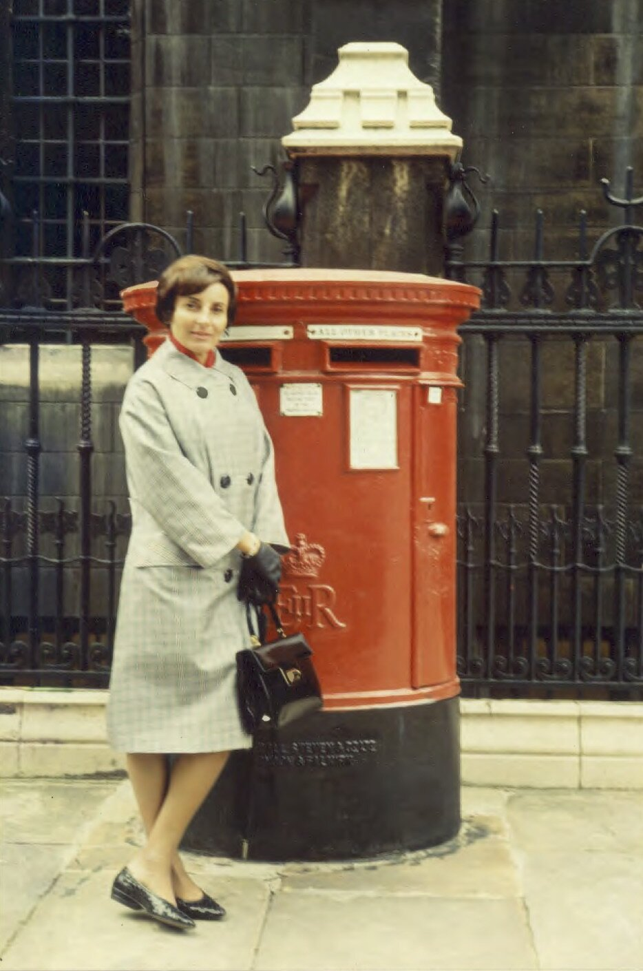 A debonair Dorrit in London, July, 1965, posing for a portrait by her fourteen year old son, at the start of her first trip to Europe since the war, and my first ever. It was on this trip, during which we also visited The Hague and the Franks' former hiding place, that I began to understand and appreciate my mother's background, as well as my own.