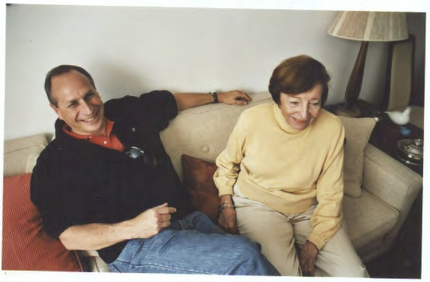 Dorrit and Lee, or Clipper as I used to call him, at 616 Wexford Terrace, Jamaica Estates, Queens, in the living room that was the center of Dorrit's world, 2009.