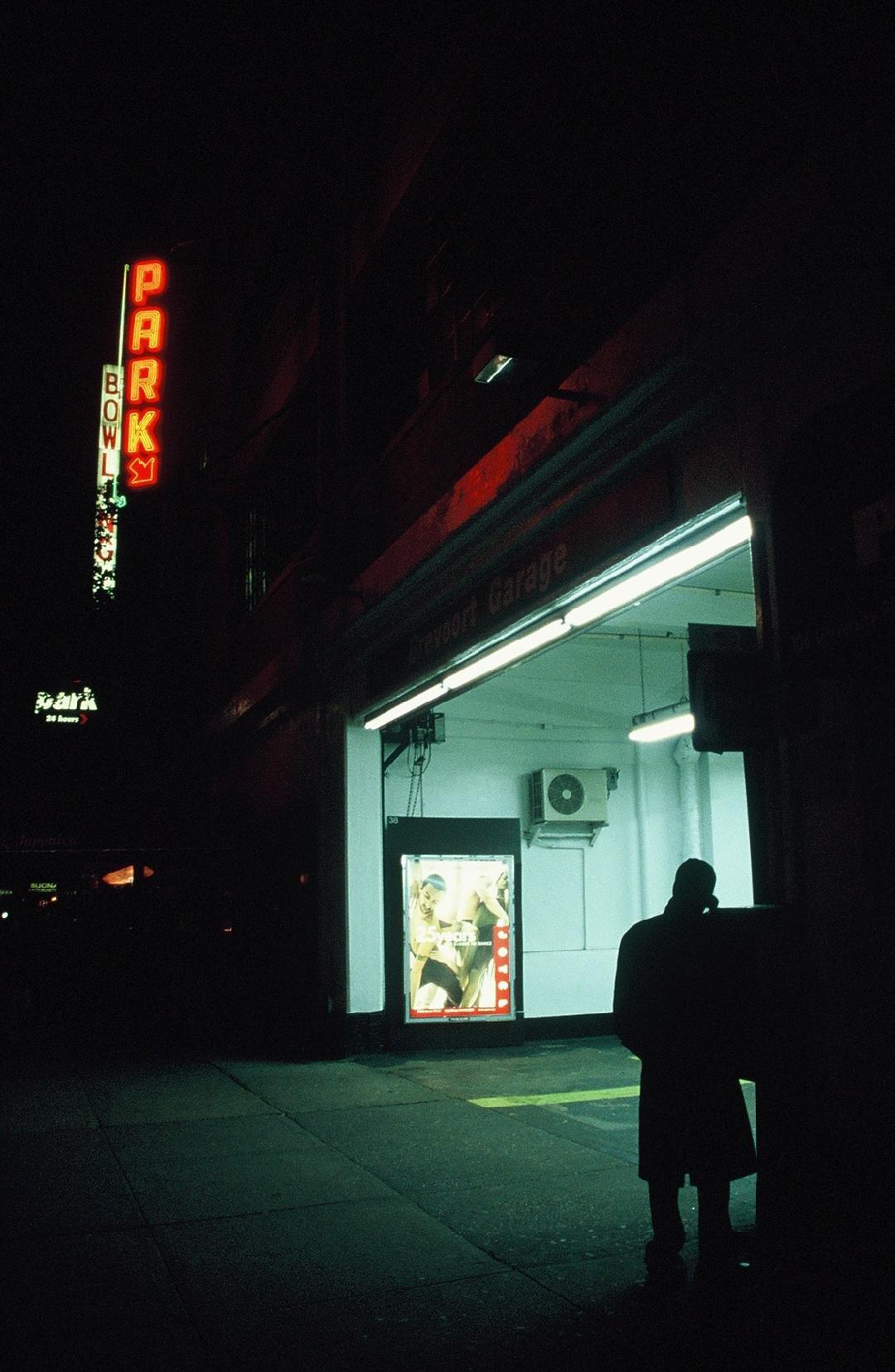 Man on the phone, University Place (2004)