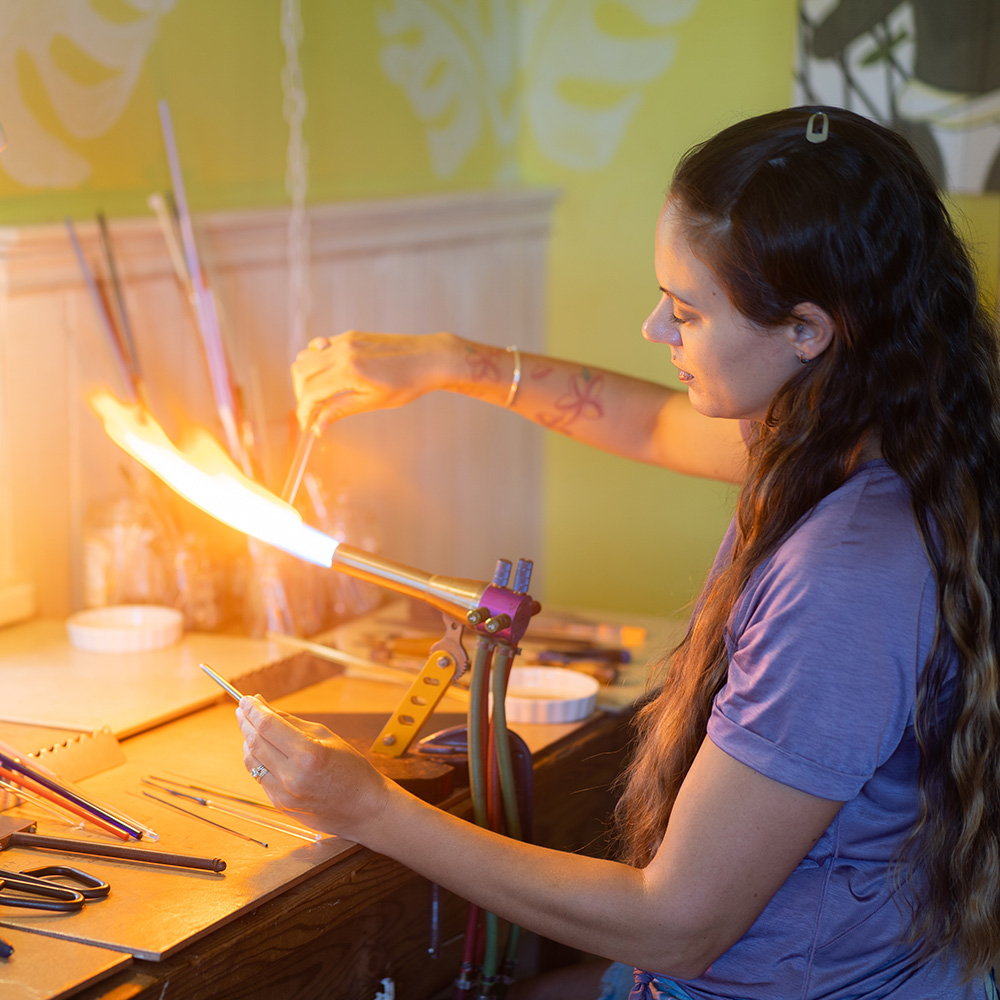 Rosemary in her studio