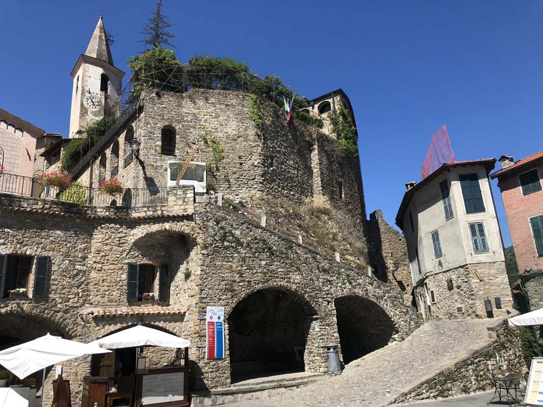 #7: Castle Tour - Touring the Castello della Lucertola, learning about its rich French and Italian history from the museum docent, and soaking in the views from the rooftop gardens overlooking the town square.