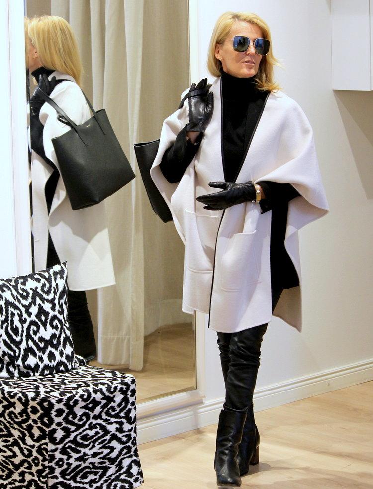 Day Birger & Mikkelsen cape -50%, ATP shoes -40%  Repeat Cashmere polo, Balmuir bag, Dior sunglasses