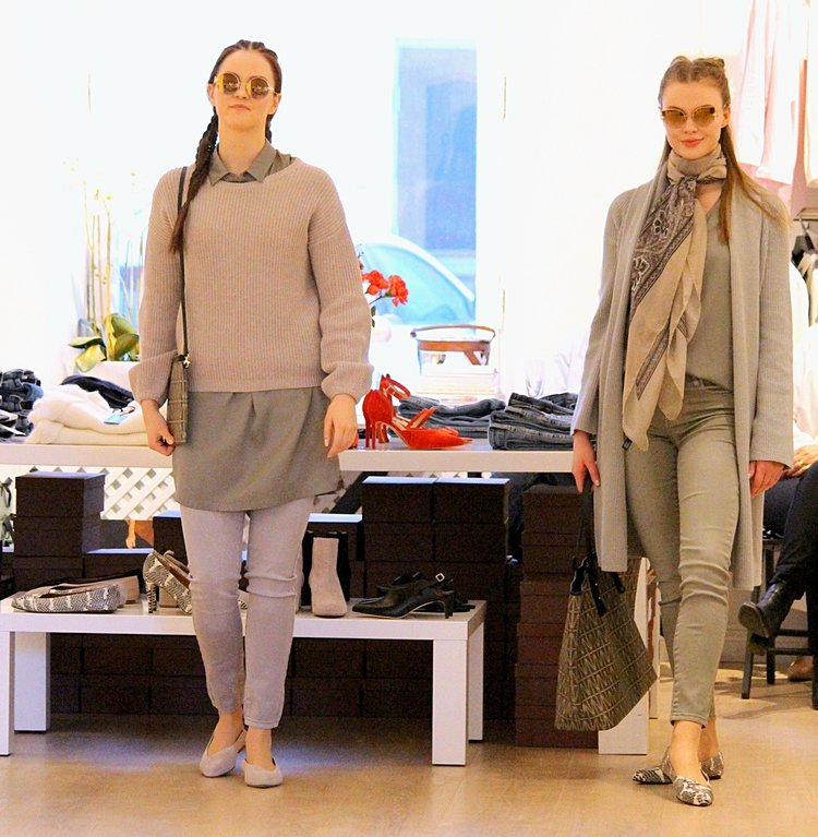 ATP Atelier shoes // Balmuir scarfs // House of Dagmar bags