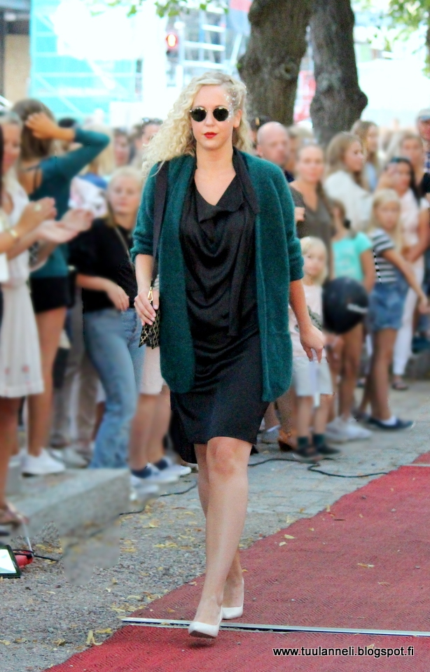 By Malene Birger cardigan, dress & bag, Tiger of Sweden shoes