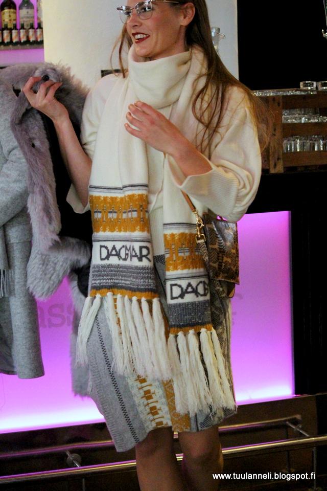 House of Dagmar Sweater, Skirt, Scarf & Ecological Fur Jacket