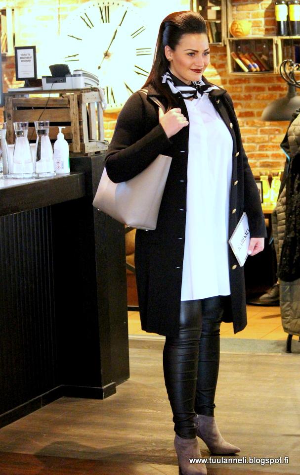 Busnel Coat & Shirt, Balmuir Bag & Scarf, By Malene Birger Leather Pants, AfKlinberg boots