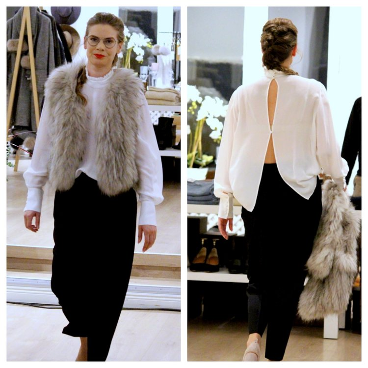 Natures Collection, Fur vest & jacket // ATP Atelier Shoes