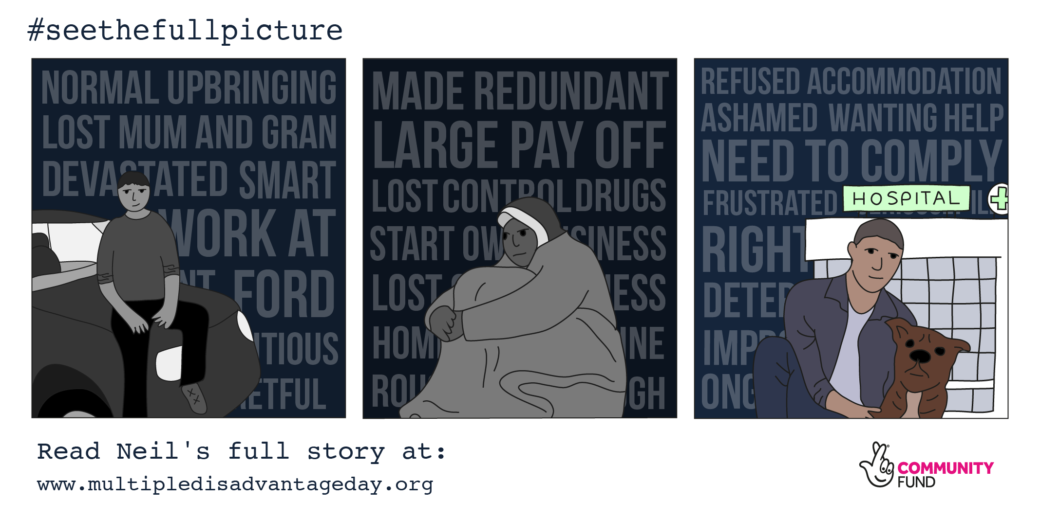 Multiple Disadvantage Day - #seethefullpicture - Campaign Graphics - True Stories - Neil's Story